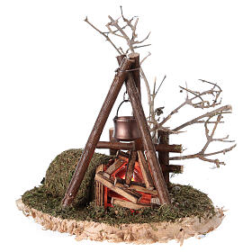 Campfire with REAL fire flickering effect 200V for nativity 8-10-12 cm s3