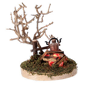 REAL campfire with LED flickering flame 4.5V for 8-10 cm nativity scene s1