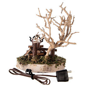 REAL campfire with LED flickering flame 4.5V for 8-10 cm nativity scene s4