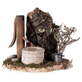 Fausse fontaine nordique 15x15x10 cm pour crèche 8-10-12 cm s1