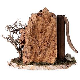 Fausse fontaine nordique 15x15x10 cm pour crèche 8-10-12 cm s4