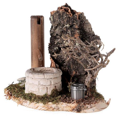 Fausse fontaine nordique 15x15x10 cm pour crèche 8-10-12 cm 2
