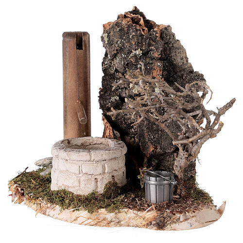 Finta fontana nordica 15x15x10 cm per presepi 8-10-12 cm 2