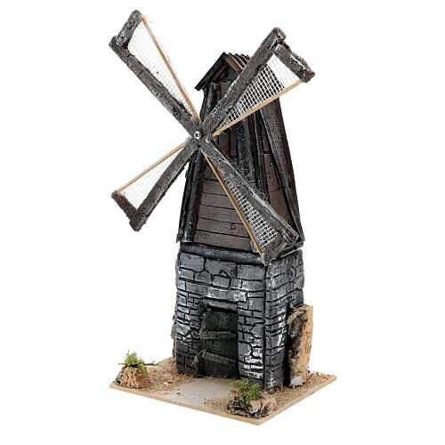Working mill for 4-6 cm Nativity Scenes, 18x11x13 cm resin 3