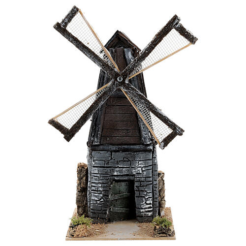 Working windmill figurine, for 4-6 cm nativity 20x10x15 cm in resin 1