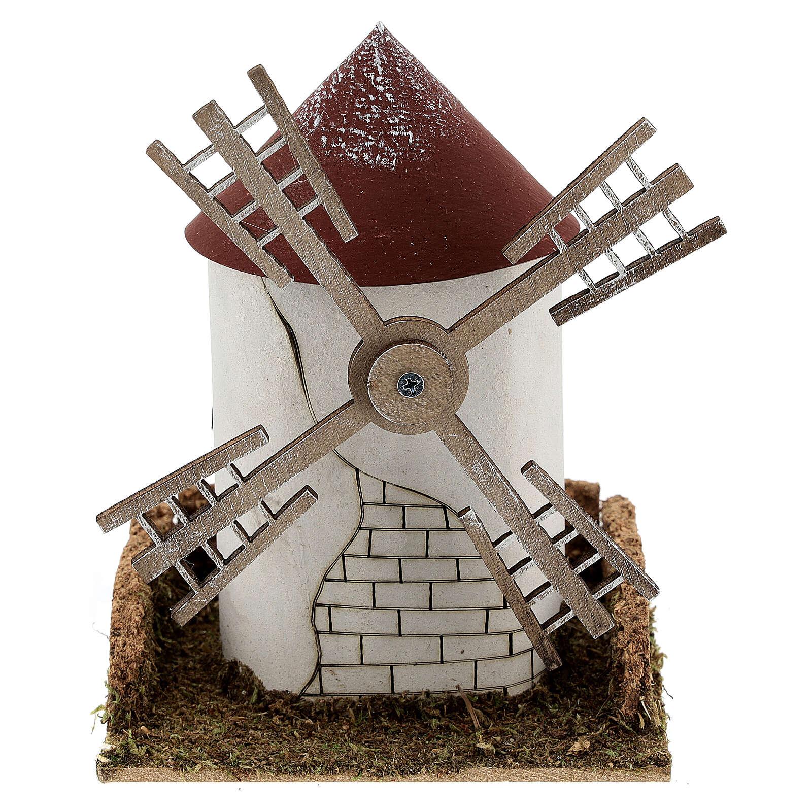 Windmill with working Flemish blade 20x15x16 cm, 4-6 cm Nativity Scenes 4