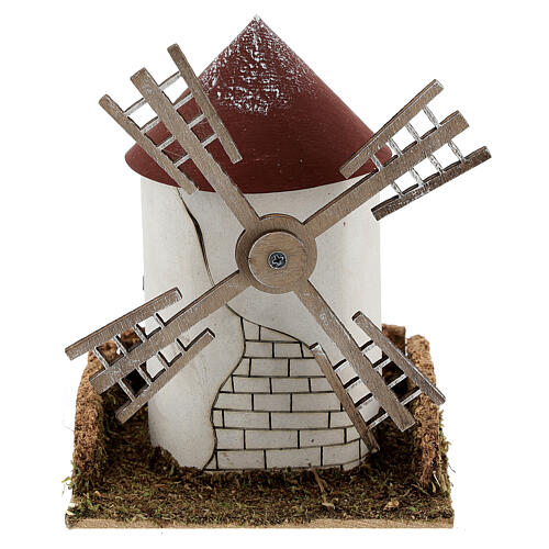 Windmill with working Flemish blade 20x15x16 cm, 4-6 cm Nativity Scenes 1