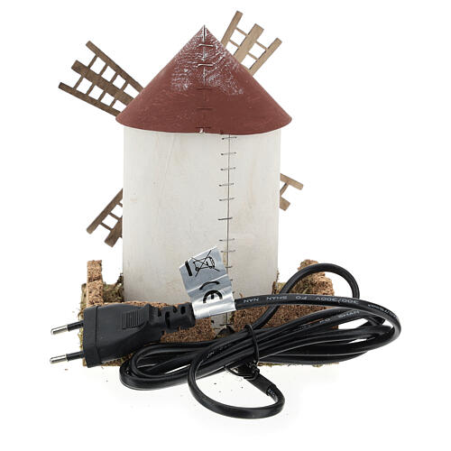 Molino de viento aspa flamenca que funciona 20x15x15 cm belenes 4-6 cm 4
