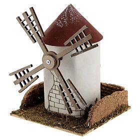 Mulino a vento pala fiamminga funzionante 20x15x15 cm presepi 4-6 cm s2