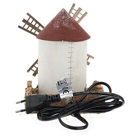 Mulino a vento pala fiamminga funzionante 20x15x15 cm presepi 4-6 cm s4