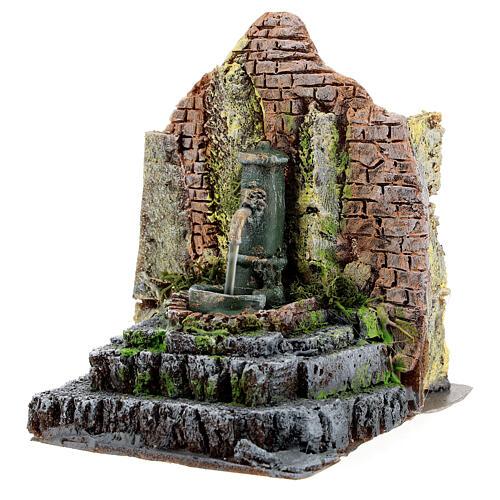 Working fountain in masonry Nativity Scene 10-12 cm 14x13x12 cm 3