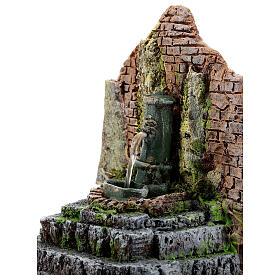 Fontana funzionante in muratura presepe 10-12 cm 15x15x10 cm s2