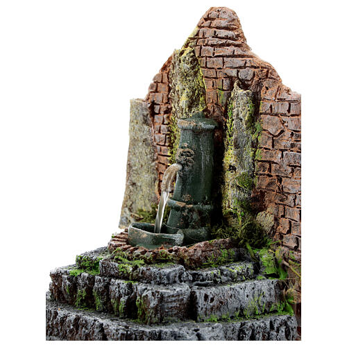 Fontana funzionante in muratura presepe 10-12 cm 15x15x10 cm 2