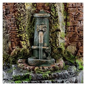 Fountain figurine with brickwork, for 10-12 cm nativity 15x15x10 cm s4