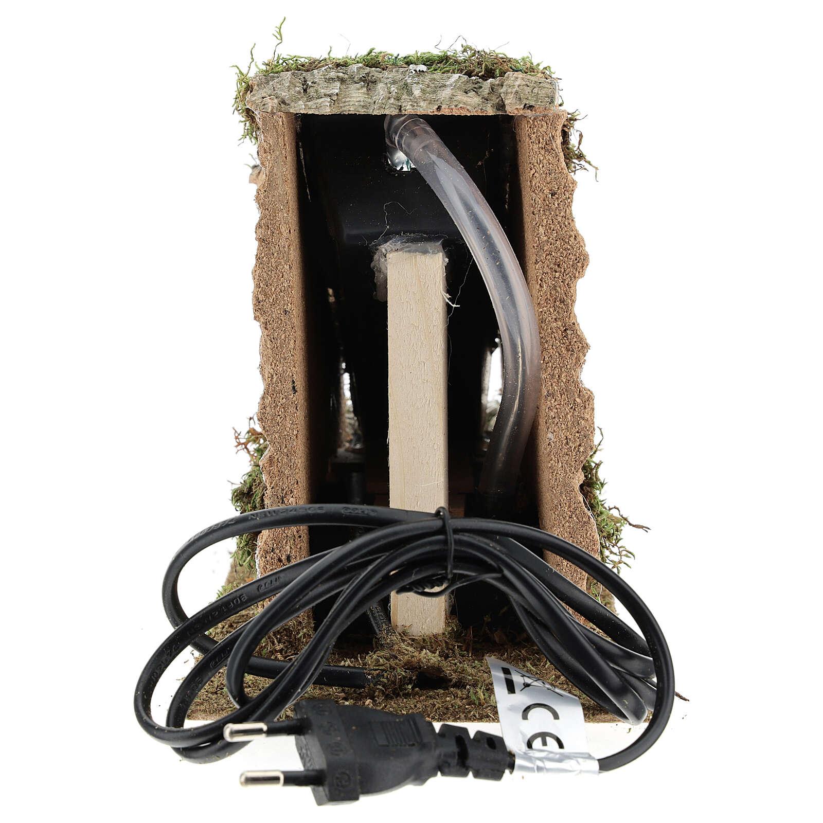 Cascata con pompa funzionante presepi 8-10 cm 15x10x25 cm 4