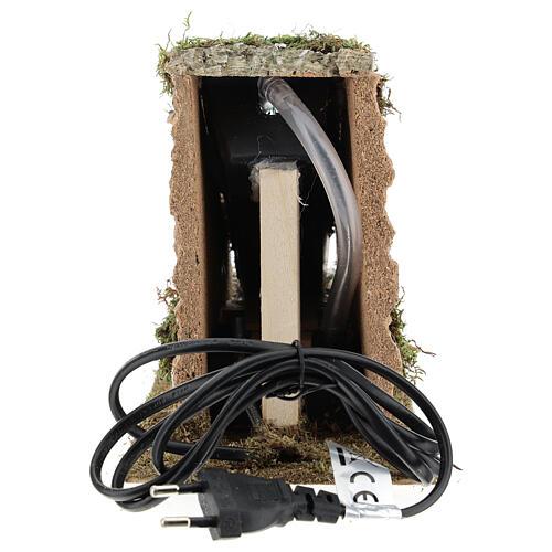 Cascata con pompa funzionante presepi 8-10 cm 15x10x25 cm 6