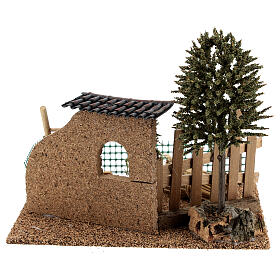 Farm fence with hay, for 8-10 cm nativity 20x15x15 cm s4