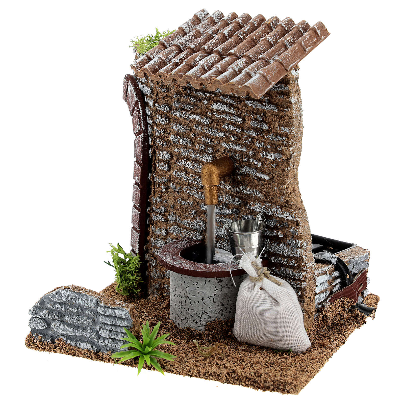 Fountain figure with pump, 15x15x15 cm for 8-10 cm nativity 4