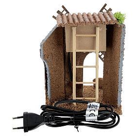 Ferme moulin à vent électrique 20x15x15 cm crèche 6-8 cm s4