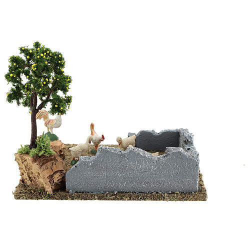 Gallinero con árbol limones belén 8-12 cm 20x15x15 cm 5
