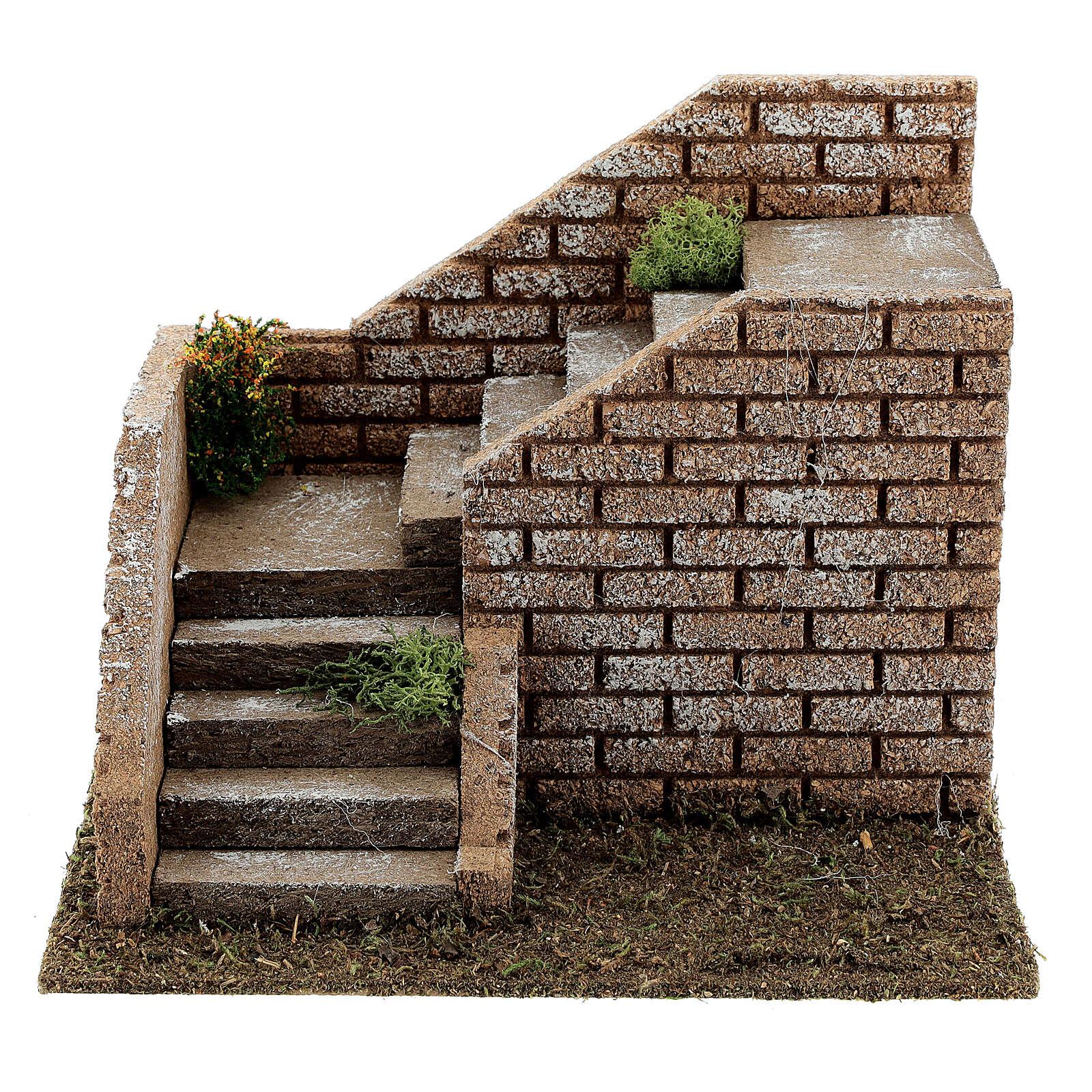 Escalier en coin maçonnerie 20x15x15 cm crèche 8-12 cm 4