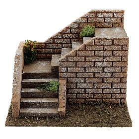 Escalier en coin maçonnerie 20x15x15 cm crèche 8-12 cm s1