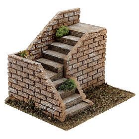 Escalier en coin maçonnerie 20x15x15 cm crèche 8-12 cm s2