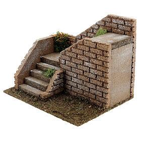 Escalier en coin maçonnerie 20x15x15 cm crèche 8-12 cm s3