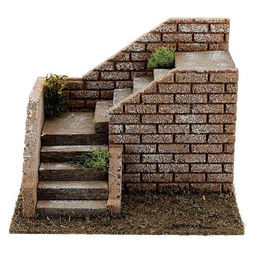Escalier en coin maçonnerie 20x15x15 cm crèche 8-12 cm 1