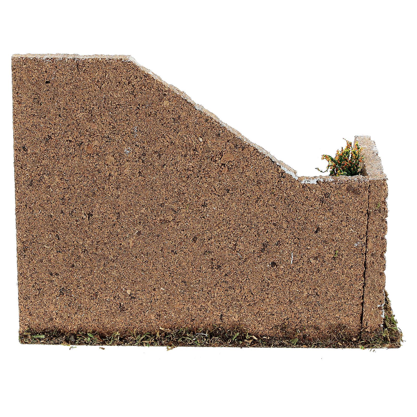 Gradinata angolare muratura 20x15x15 cm presepi 8-12 cm 4