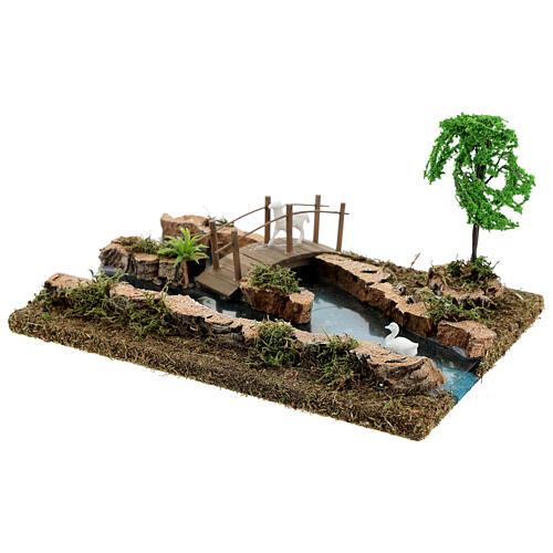 Modular river and animals figurine 10x25x10 cm 6-8 cm nativity 4