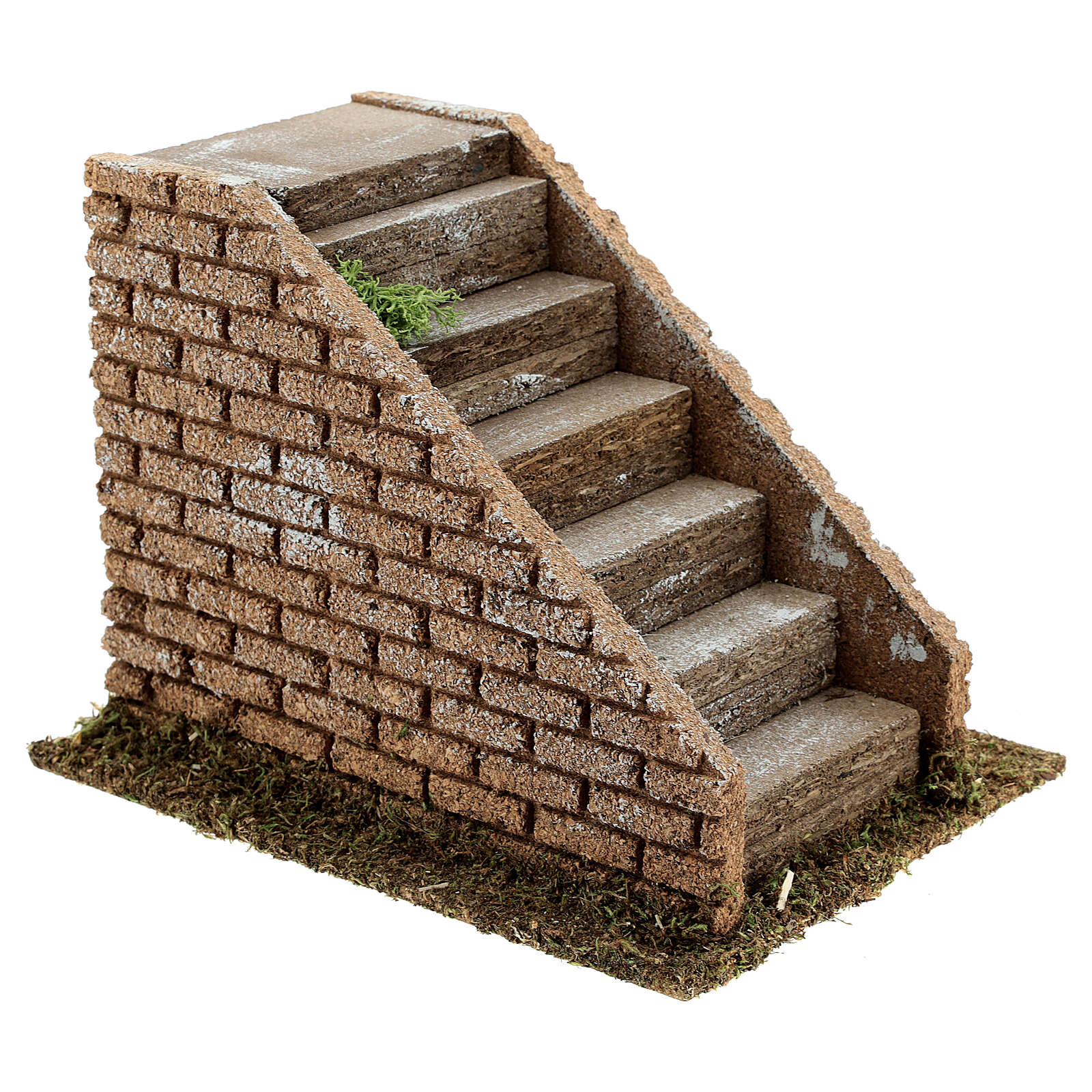 Staircase with steps in masonry nativity scenes 8-12 cm 16x20x15 cm 4