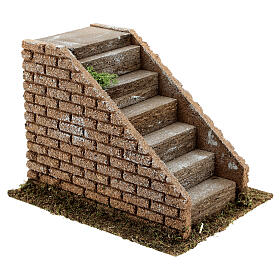 Staircase with steps in masonry nativity scenes 8-12 cm 16x20x15 cm s3