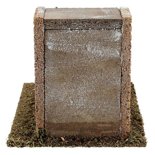 Scala gradoni muratura presepi 8-12 cm 15x20x15 cm 4