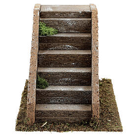 Stairs with masonry steps for Nativity scenes with 8-12 cm figurines 15x20x15 cm s1