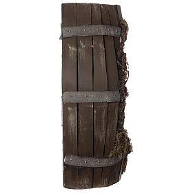 Tonneau crèche complète napolitaine santons terre cuite 8 cm 60x30x25 cm s7