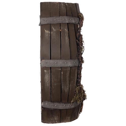 Tonneau crèche complète napolitaine santons terre cuite 8 cm 60x30x25 cm 7