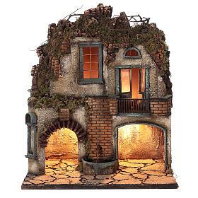 Ambientazione presepe napoletano terrazzo fontana 50x40x30 presepe 8-10 cm s1