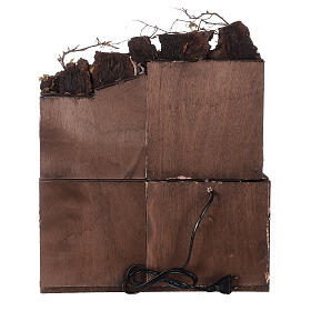 Décor crèche napolitaine terrasse avec séchoir 50x40x30 cm crèche 10 cm s4