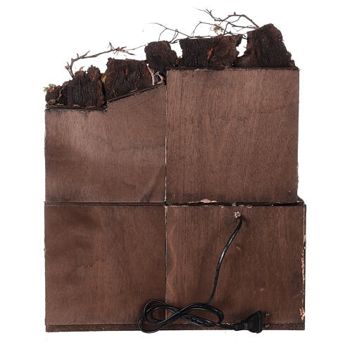 Décor crèche napolitaine terrasse avec séchoir 50x40x30 cm crèche 10 cm 4