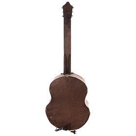 Crèche complète guitare Naples éclairée 125x50x20 cm santons 6 cm s9