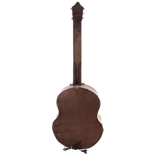 Crèche complète guitare Naples éclairée 125x50x20 cm santons 6 cm 9