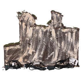 Aldeia presépio napolitano completo com escada, forno e luzes, figuras altura média 8 cm, medidas: 41x48x30 cm s7