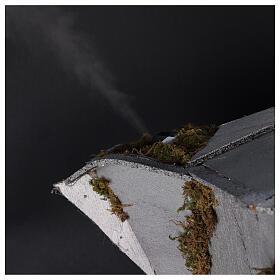Presépio completo napolitano cafeteira moka com FUMAÇA VERDADEIRA, figuras terracota altura média 8 cm, medidas: 102x60x52 cm s4