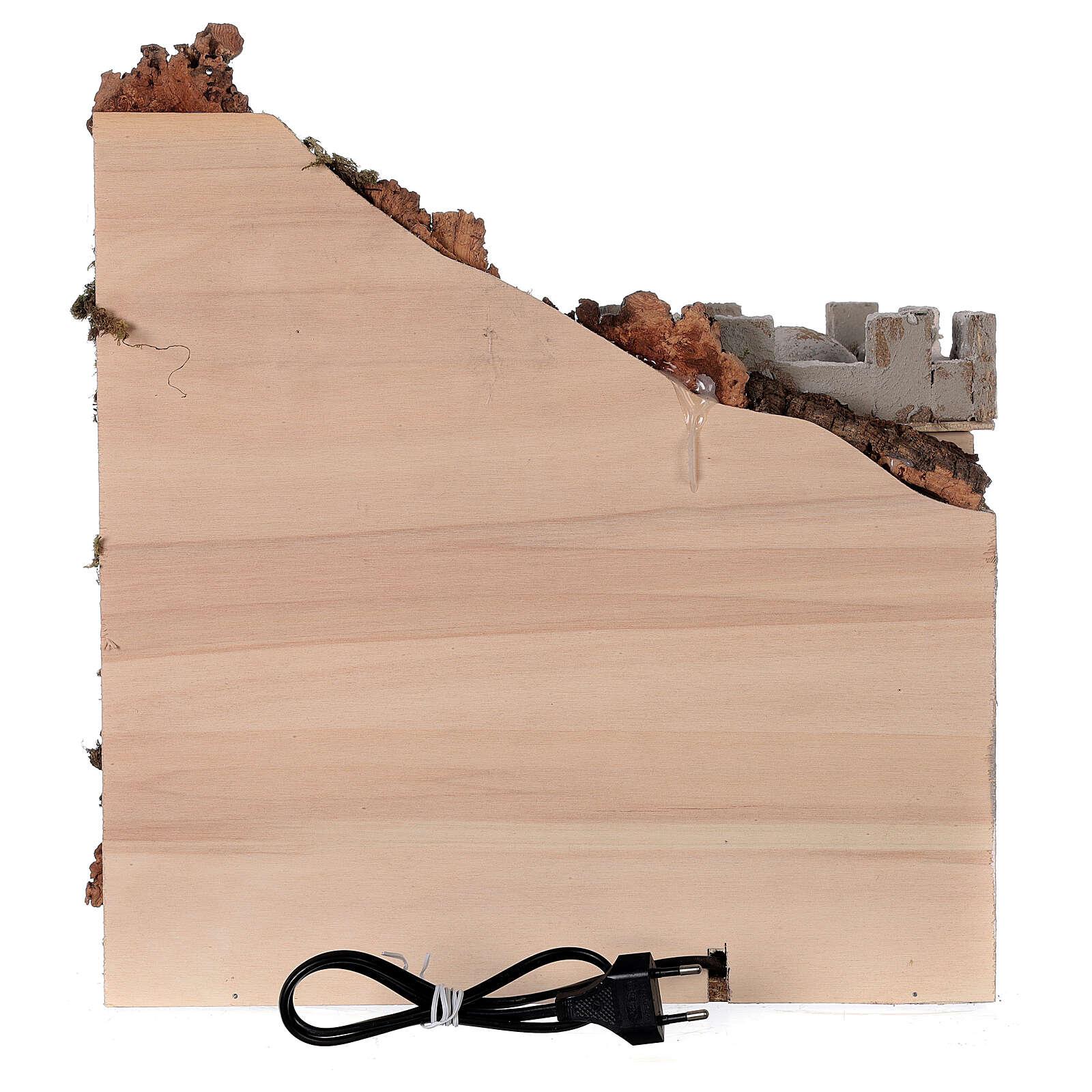 Ambientazione araba (A) presepe napoletano case bianche statue 8 cm 35x35x35 4