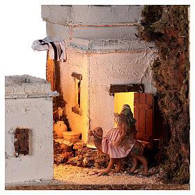 Ambientazione araba (A) presepe napoletano case bianche statue 8 cm 35x35x35 s2