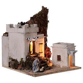 Ambientazione araba (A) presepe napoletano case bianche statue 8 cm 35x35x35 s4