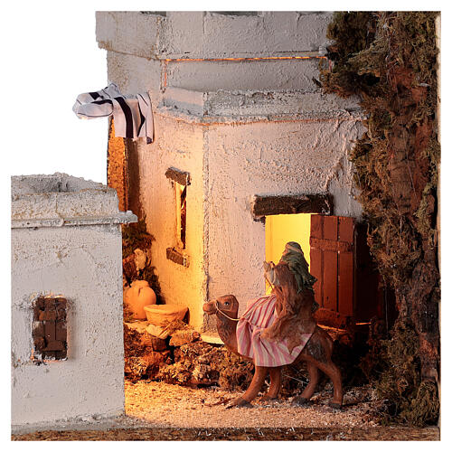 Arab setting (A) white houses for Neapolitan Nativity Scene with 8 cm figurines 35x35x35 cm 2