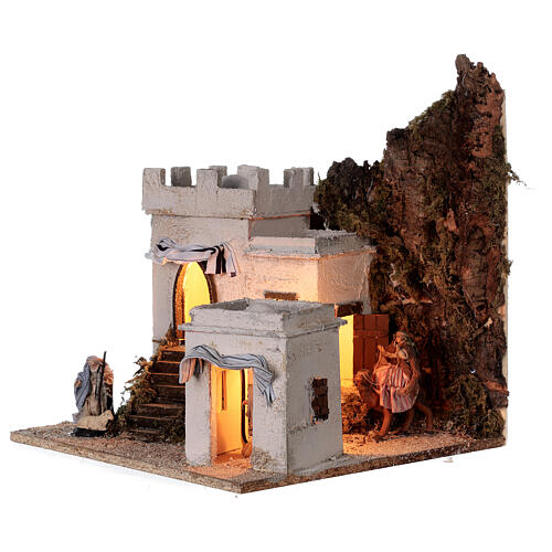 Arab setting (A) white houses for Neapolitan Nativity Scene with 8 cm figurines 35x35x35 cm 3