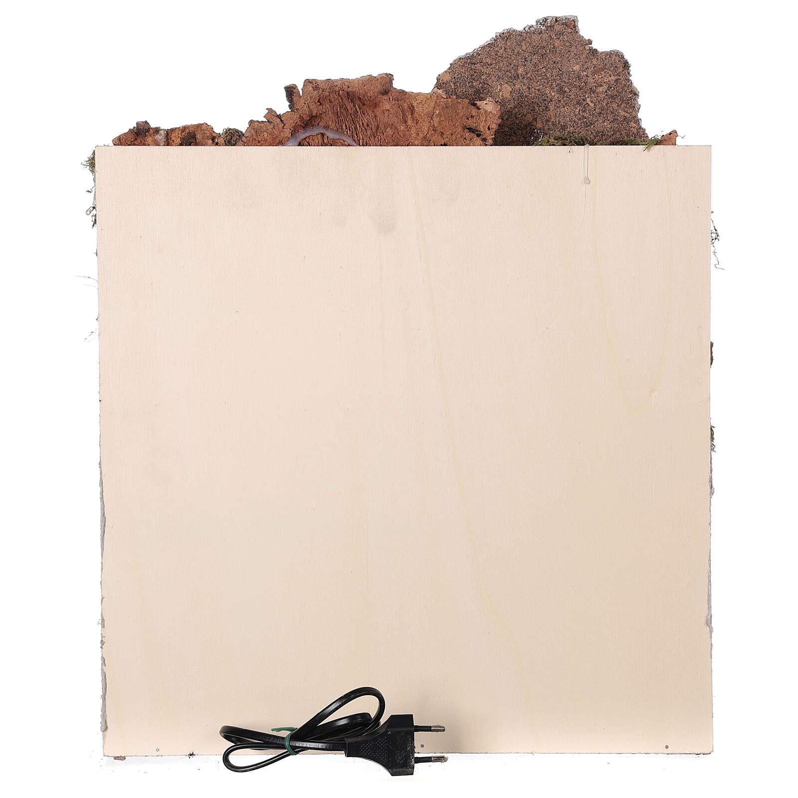 Ambientazione araba (D) presepe napoletano 8 cm arcate mercato 45x35x35 cm 4